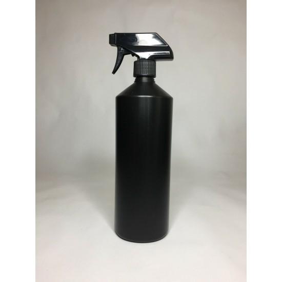 1000ml (1L) Black HDPE Swipe Bottle with Black Trigger Spray