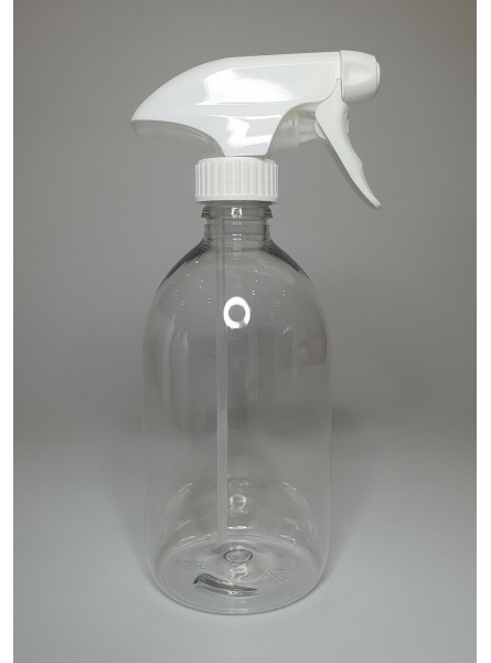 500ml Clear PET Sirop Bottle With White Trigger Pump