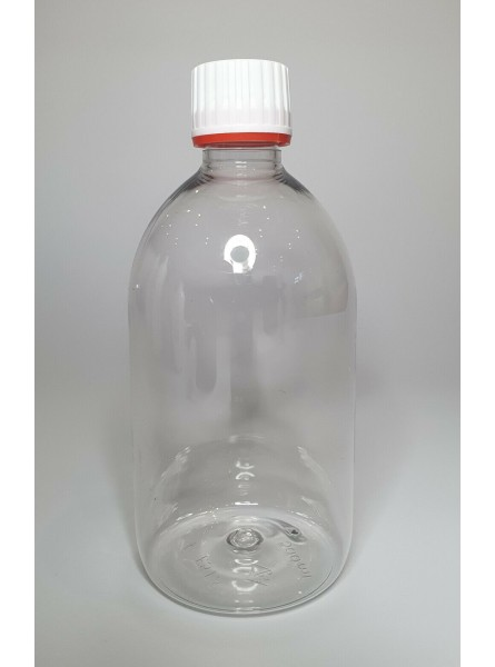 500ml Clear Sirop Bottle with Tamper Evident Lid