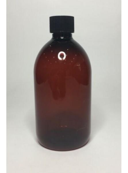 250ml Amber PET Sirop Bottle with Black Cap